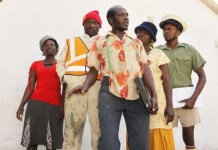 "David Mubayiwa aka ""Sabhuku Vharazipi"" with the rest of the cast"