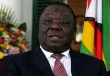 Opposition leader, Morgan Tsvangirai addressing a rally