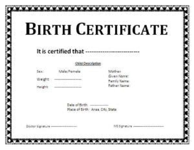 birth-certificate-template \u2013 Nehanda Radio - Certificate Of Birth Template
