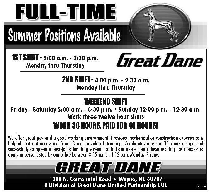 Summer Positions Available Nebraska Hires