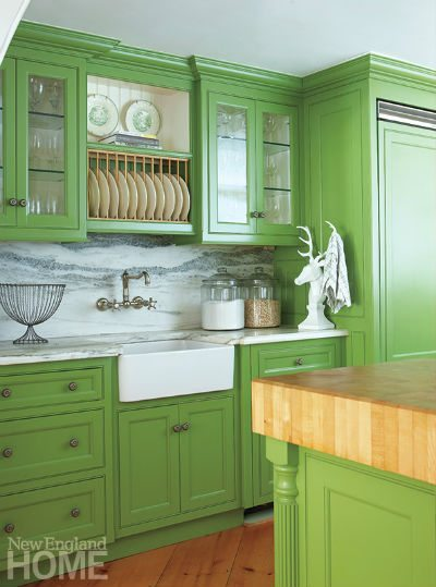 Country Gray Kitchen Cabinets What's Cooking In The Kitchen? Color! - New England Home