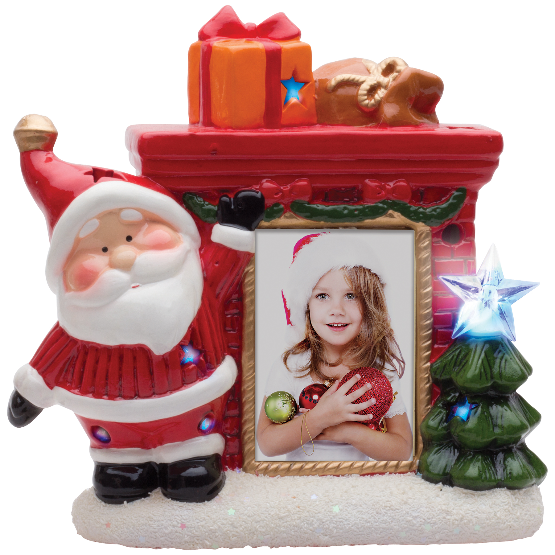 Collage Frames Australia Wholesale Christmas Picture Frames Light Up Santa Photo