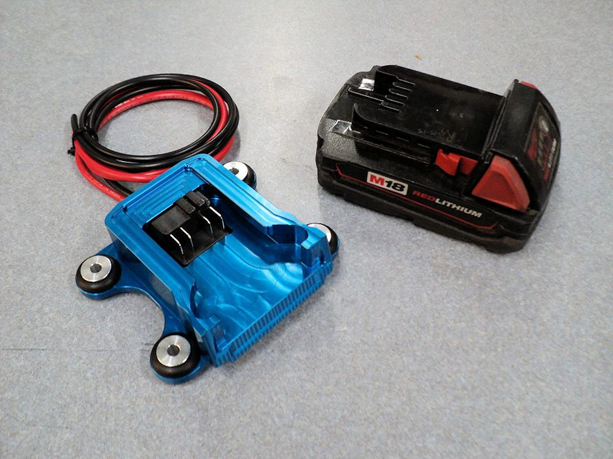 Milwaukee M18 Battery Milwaukee Rechargeable Battery Mount For Racing
