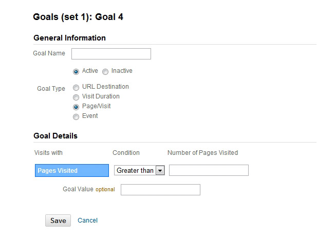 4 Google Analytics Goal Types That Are Critical To Your Business - sample goal tracking