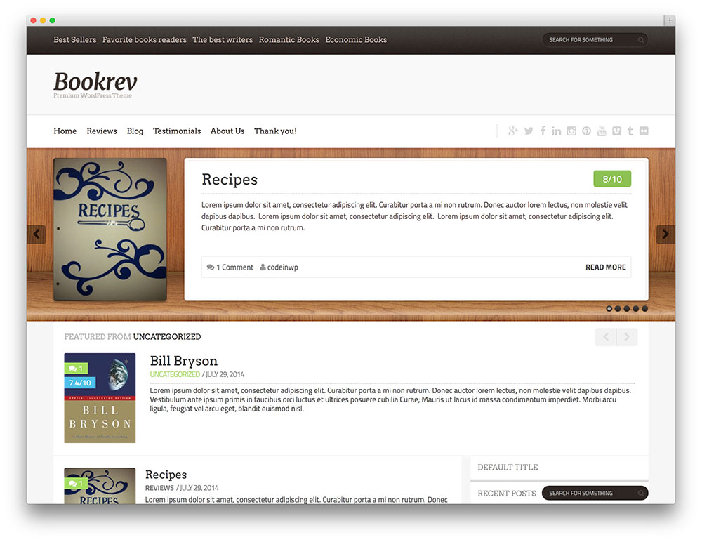 32 Free WordPress Themes For Effective Content Marketing - book reviews template