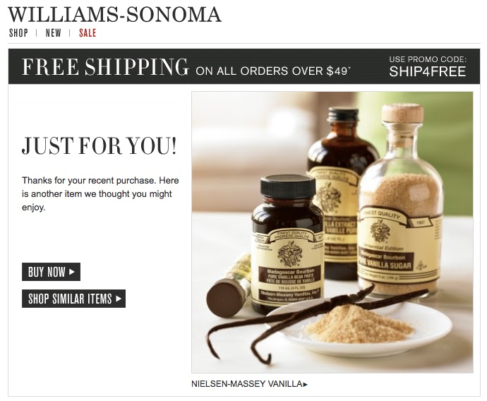7 Automated Emails Your E-commerce Store Needs to be Sending - personalized e mail