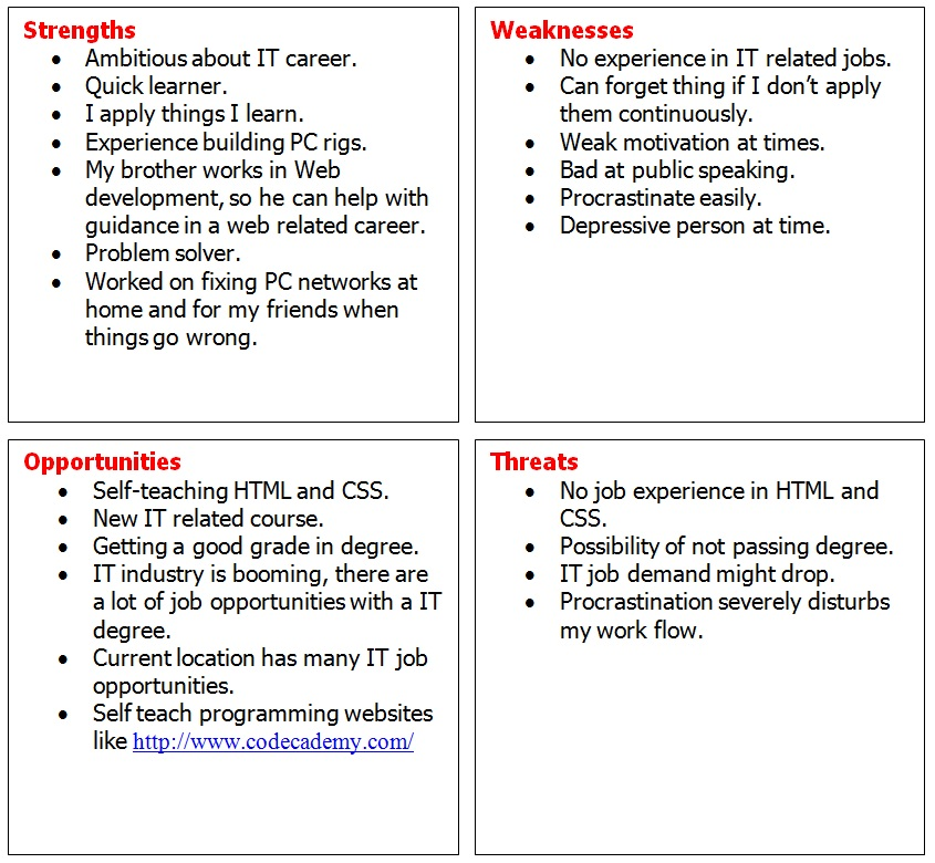 SWOT analysis neilsanders1