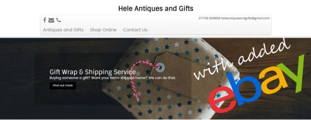 hele antiques and gifts web design ilfracombe neilsbuildingsites