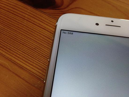 No SIM のiPhone 6 Plus