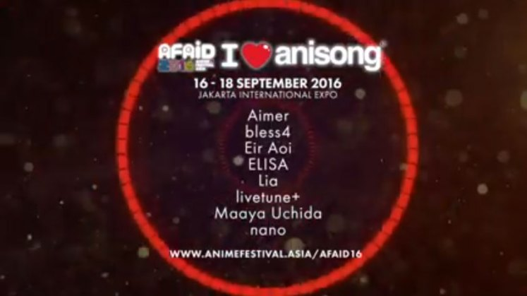 AFAID 2016 anisong