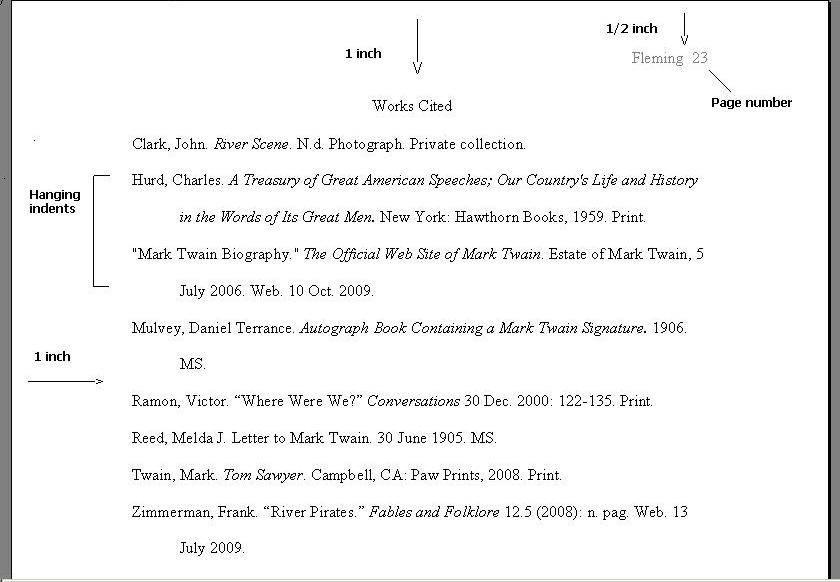 MLA Format - Ms Nelson\u0027s English 10 Class
