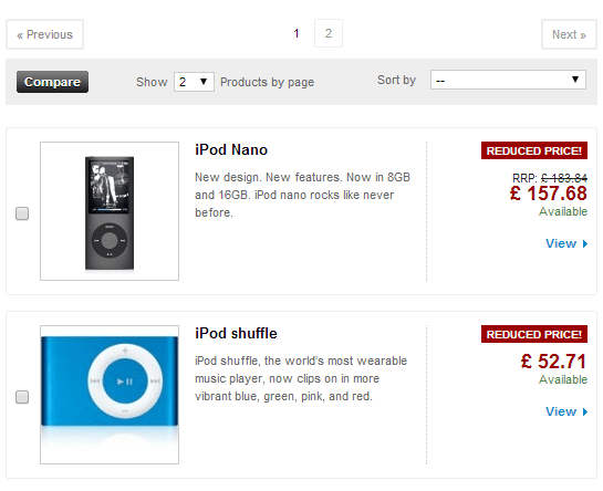 RRP Price in the Prestashop Products List Page