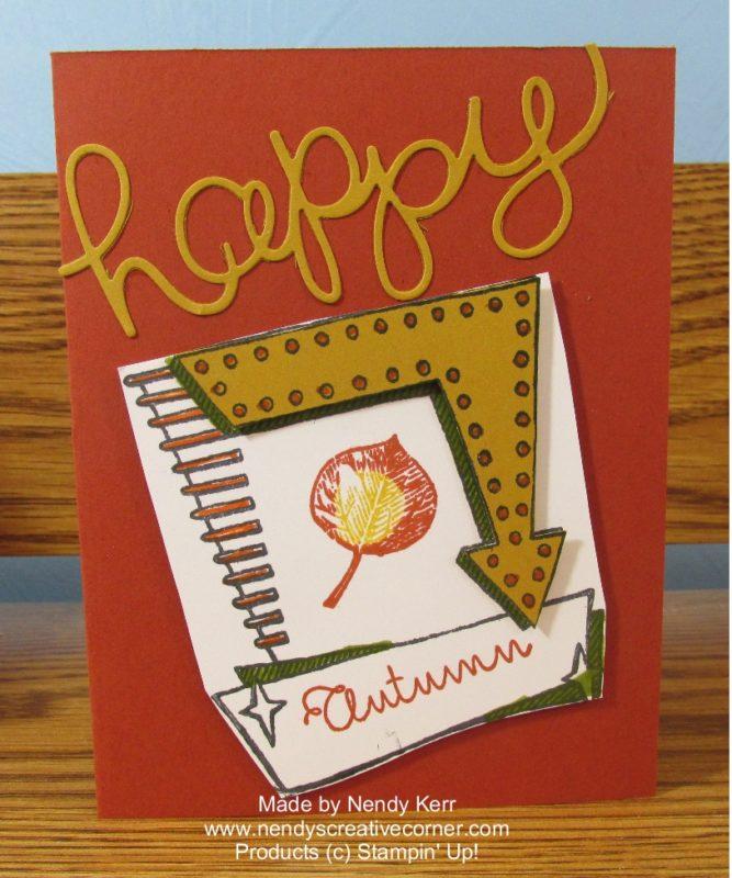 Autumn Marquee Card