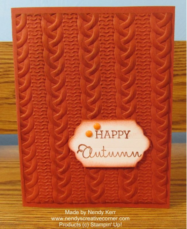 Happy Autumn Cable Knit Card