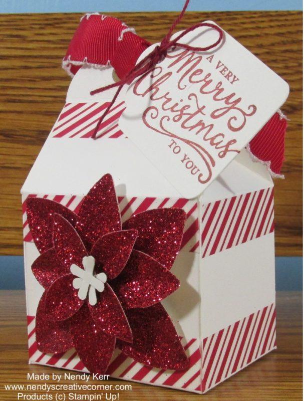 Christmas Poinsettia Bakers Box