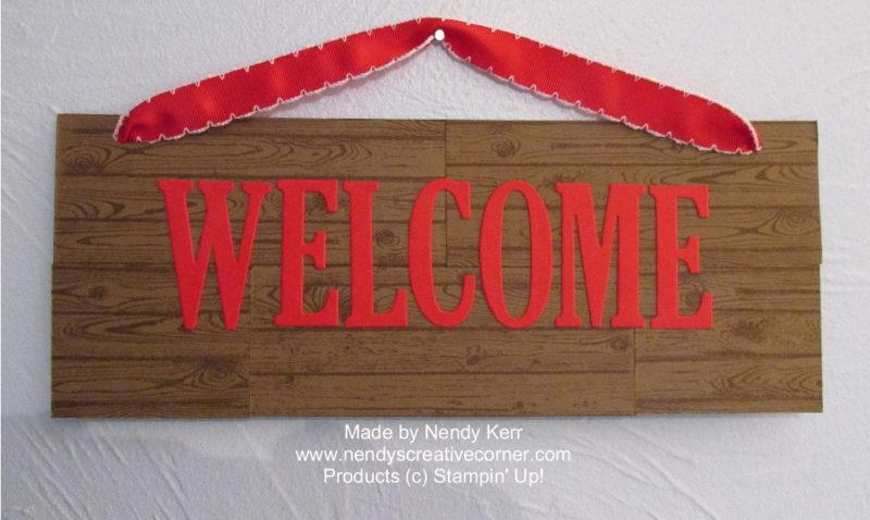 """""""wood"""" Welcome Sign"""