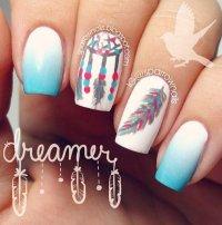 40 Feather Nail Art Ideas - nenuno creative