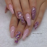 Glitter Coffin Nails Tumblr Pictures to Pin on Pinterest ...