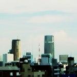 ビルとタワー 差分:晴れ/夕方/雨