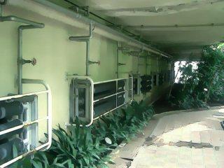 配管のある温室 差分:日中/夕方/夜