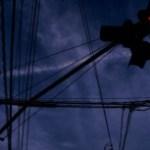 一灯点滅式信号機と薄暗い空
