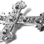 十字架のアクセサリーの写真素材