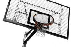 バスケットゴールの写真素材