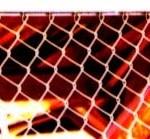 フェンスと鉄骨の写真素材