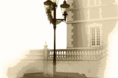 西洋風の照明の写真素材