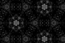 花が広がるような幾何学模様(4パターン)