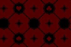 ゴシックな感じの格子とトランプ柄(4パターン)