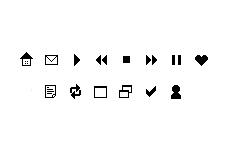 シンプルなアイコン(14パターン)