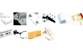 50*50ピクセルの医療系の写真(10個)