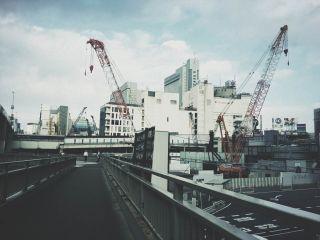 【高解像度】歩道橋から見た渋谷駅