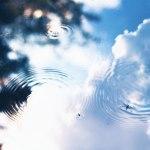 【高解像度】空とアメンボ(3パターン)