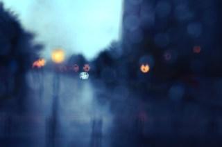 【高解像度】滲む景色とぼんやりした灯り(3パターン)