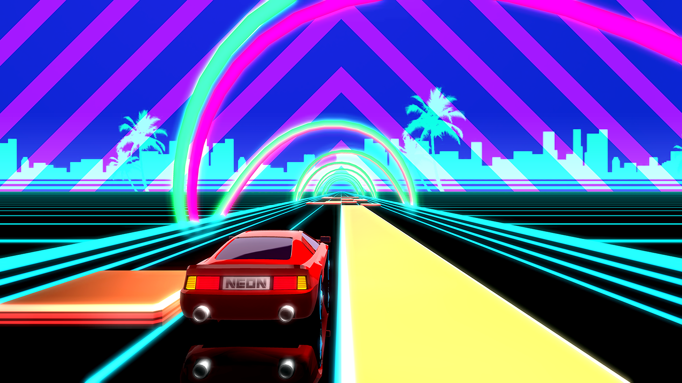 1920 Car Synthwave Wallpaper Neon Drive 80s Arcade Game A Game By Fraoula