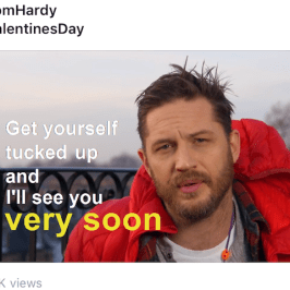 Who won the Valentine's Day social media battle 2017?
