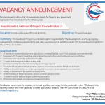 VACANCY at Compassionate Hands for Nepal