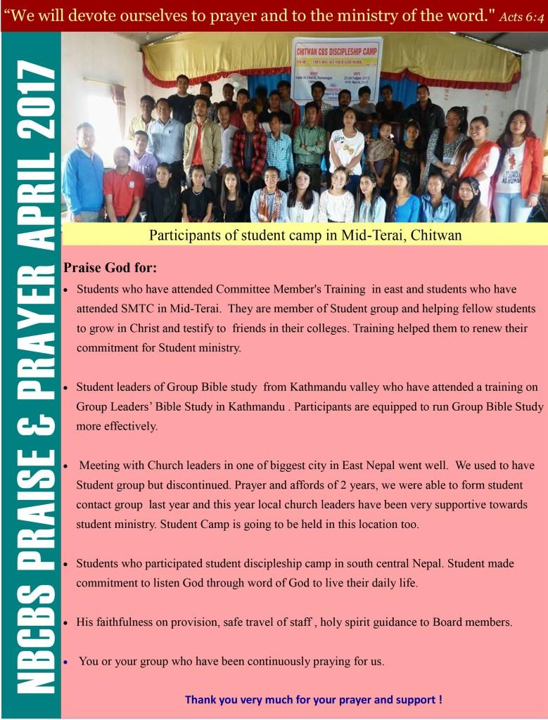 NBCBS Praise and Prayer April 2017-1