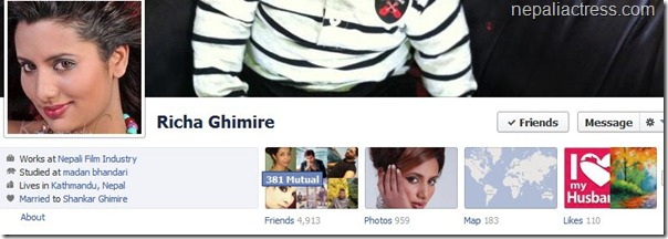 richa ghimire facebook profile