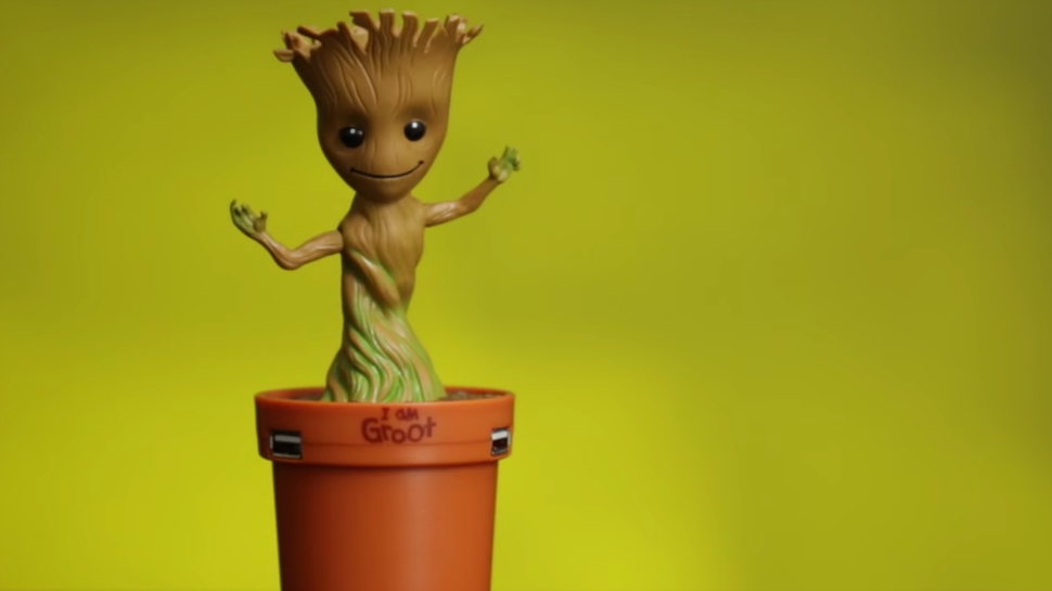 Baby Groot Guardians Of The Galaxy Dancing Baby Groot Usb Car Charger Is The Cutest Co-pilot