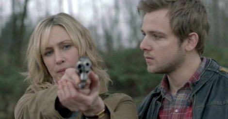 """""""... then squeeze the trigger gently, Mom."""" Mother-Son Bonding Time."""