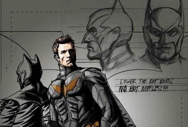 Arte conceitual do filme revela uniforme de Ben Affleck - Supermam e Batman 2
