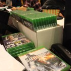 Xbox One games were stockpiled around the store in preparation for midnight sales.