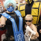 Frost, Scorpion, and mini Johnny Cage from Mortal Kombat. (Photo by Christen Bejar)