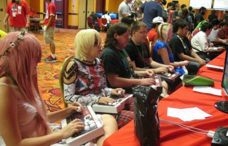 The AZHP gaming room generally has a steady flow of tournament and casual gamers, as pictured above during the 2012 Saboten Con.