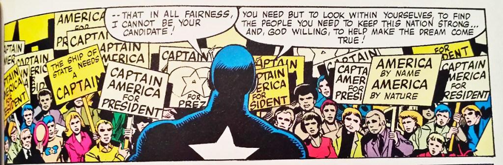 Resultado de imagem para Captain America for president