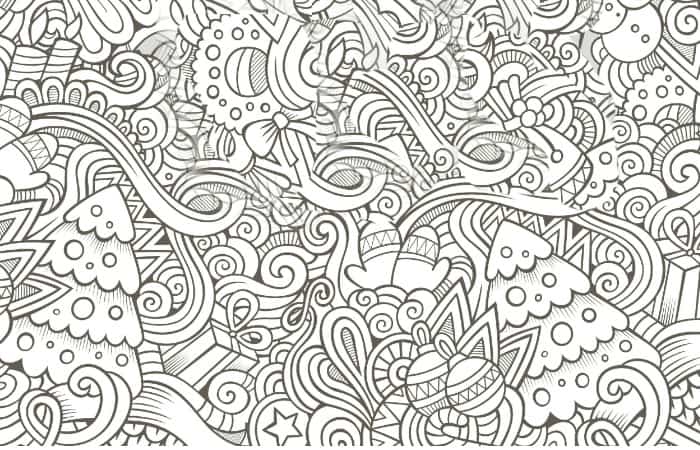 free printable holiday adult coloring pages