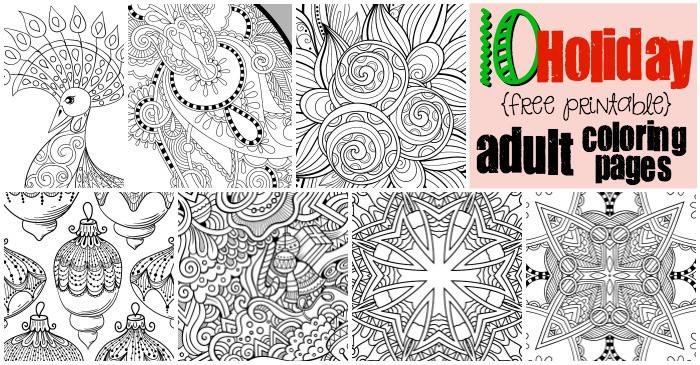 Coloring pages free printable adults